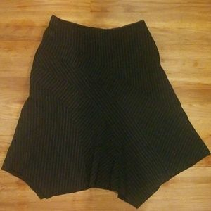 Valia womans pinstripe dress skirt Large